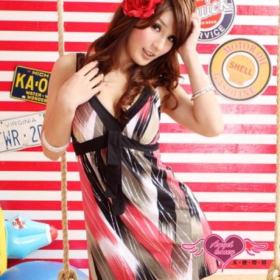 泳衣 白金流線 一件式連身泳裝(咖啡L.XL) AngelHoney天使霓裳