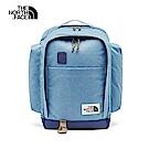 The North Face北面男女款藍色拼接舒適防護休閒後背包 3KY2FC9