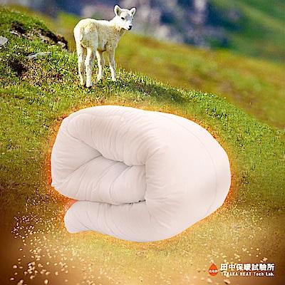 田中保暖試驗所 英格蘭御璽 發熱羊毛被 添加發熱纖維 單人4.5X6.<b>5</b>尺 保暖舒適