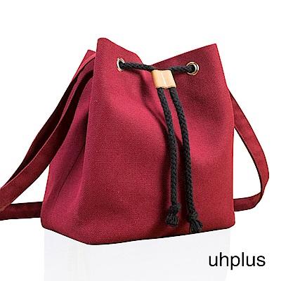 uhplus 簡約輕巧水桶包(紅)