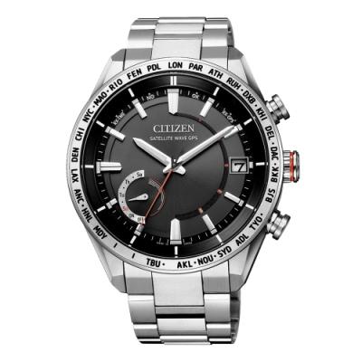 CITIZEN GENT S光動能商務時尚腕錶-銀X黑(CC3081-52E)/44mm