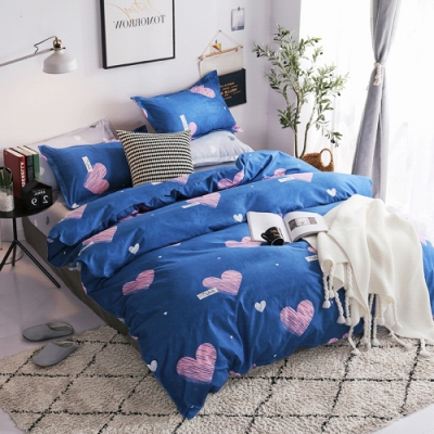 A-one 雪紡棉 雙人床包/枕套 三件組-甜蜜標籤