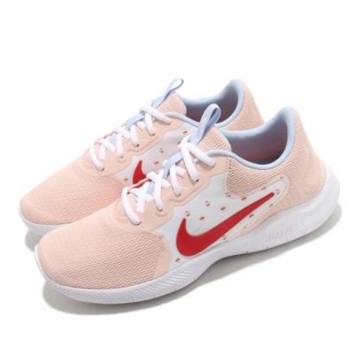 Nike 慢跑鞋 Flex Experience RN 女鞋 輕量 透氣 舒適 避震 路跑 健身 粉 白 CW5631400