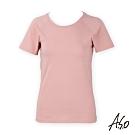 A.S.O 負離子系列-女士排汗短袖上衣-粉