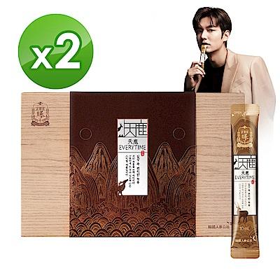 賣場限量1元加購百香清淨飲【正官庄】天鹿EVERYTIME 30入x2盒(雙國家品質保証、人蔘鹿茸精華液)