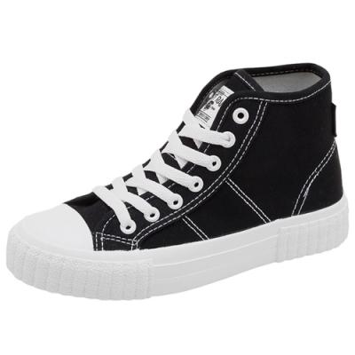 韓國KW美鞋館 夏日必買特色女孩帆布鞋-黑
