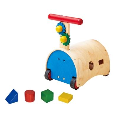 日本Ed-Inter - 木玩系列(幾何積木滑步車)