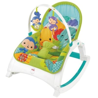 Fisher Price費雪 - 熱帶雨林可攜式兩用震動安撫躺椅(搖椅)