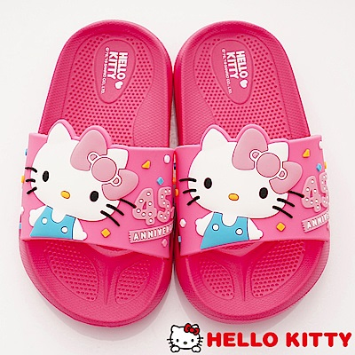 HelloKitty童鞋 45週年限定拖鞋款 EI19265桃(中小童段)