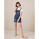 CACO-吊帶刷色牛仔裙(兩色)-女【TAR090】