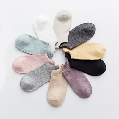[秒殺時時樂限定] Hera赫拉 馬卡龍純色全棉船襪-5入一組(多種顏色隨機)