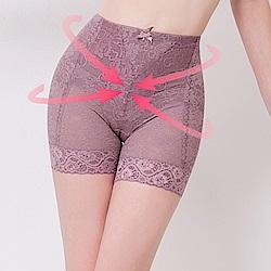 可蘭霓Clany 翹俏臀M-2XL提拉高腰三分塑身褲  高貴紫