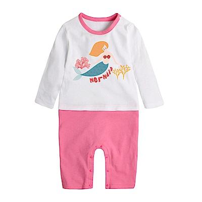 baby童衣 獨家自印 秋冬款長袖印花連身衣 66342