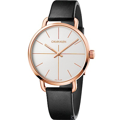 Calvin Klein K7B even 超然時尚腕錶K7B216C6-玫瑰金/42mm