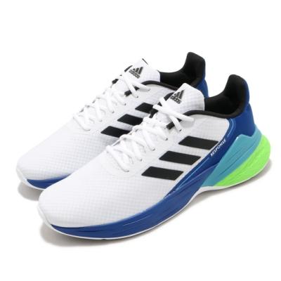adidas 慢跑鞋 Response SR 運動休閒 男鞋 愛迪達 路跑 舒適 緩震 透氣 球鞋穿搭 白 藍 FX3789