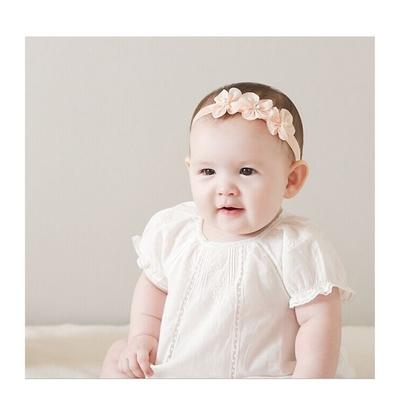 Baby童衣 新生兒髮帶 三朵花造型頭飾 寶寶頭帶 88767