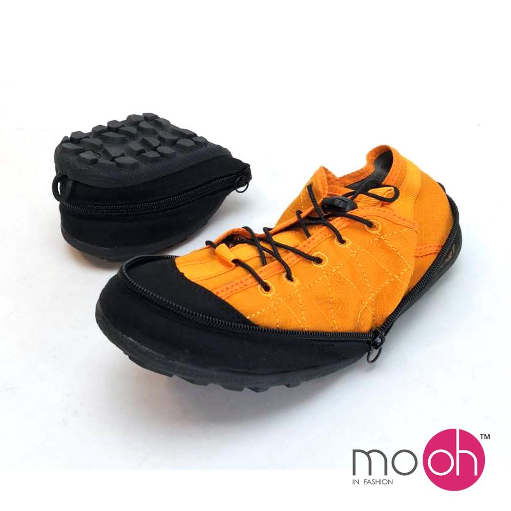 mo.oh情侶款折疊登山帆布鞋-橘黃色