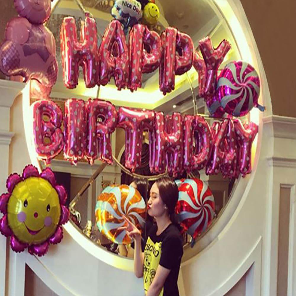 生日快樂派對粉色氣球套餐(BL-03)