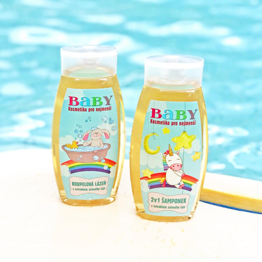 捷克波西米亞禮讚嬰幼兒兒童洗沐浴組合泡泡狗+彩虹小馬