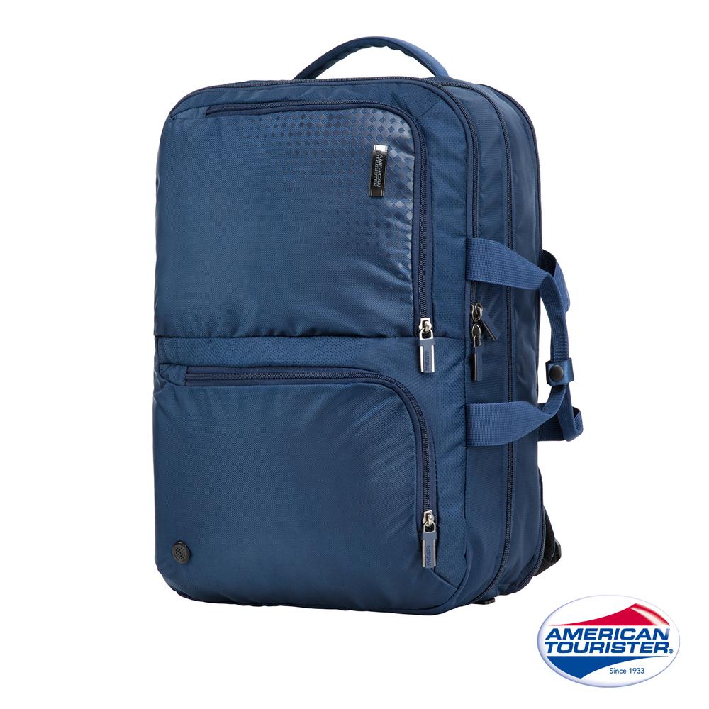 AT美國旅行者 Logix 兩用式大容量功能型筆電後背包(藍)