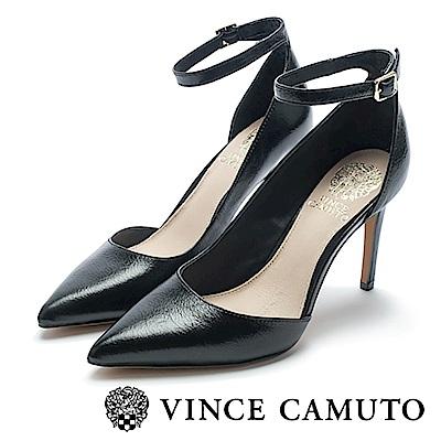 VINCE CAMUTO 經典側切口尖頭高跟鞋-黑色