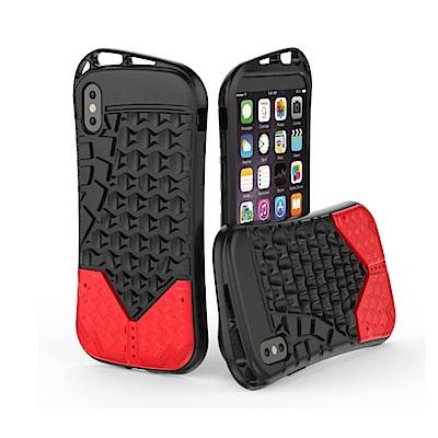 PKG Apple IPhone X 抗震防護手機殼套-運動系列-紅