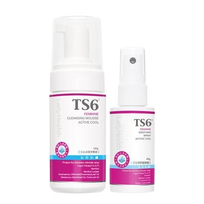 TS6護一生沁涼潔淨慕斯100g+沁涼舒緩噴霧40g