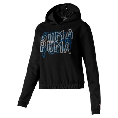 PUMA-女性訓練系列Feel It長厚連帽T恤-黑色-歐規
