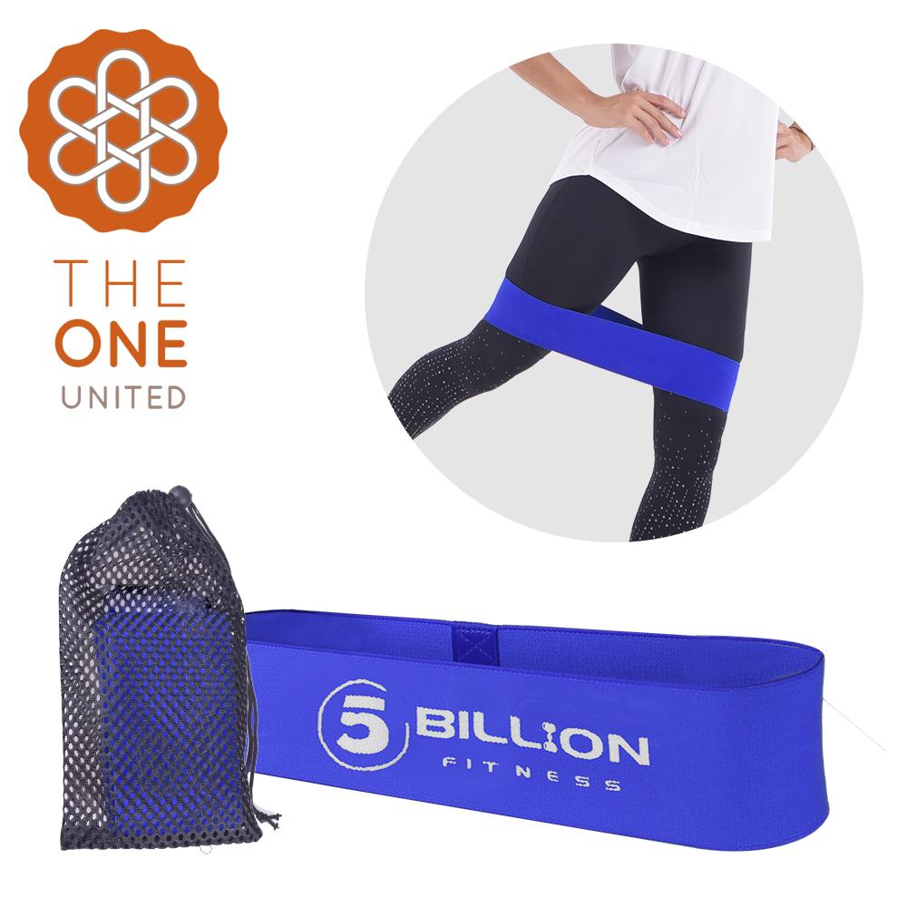 【The One】瑜珈健身 寬版針織阻力帶/彈力帶(中階藍)45磅