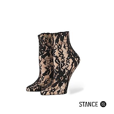 STANCE LACEY-女襪-休閒襪-亮粉黑色蕾絲襪設計款