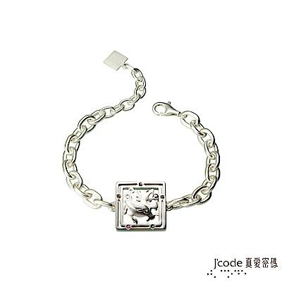 J'code真愛密碼 進財貔貅純銀/水晶手鍊