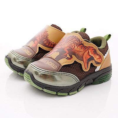 侏羅紀公園童鞋 恐龍電燈運動鞋款 EI3018咖(中小童段)