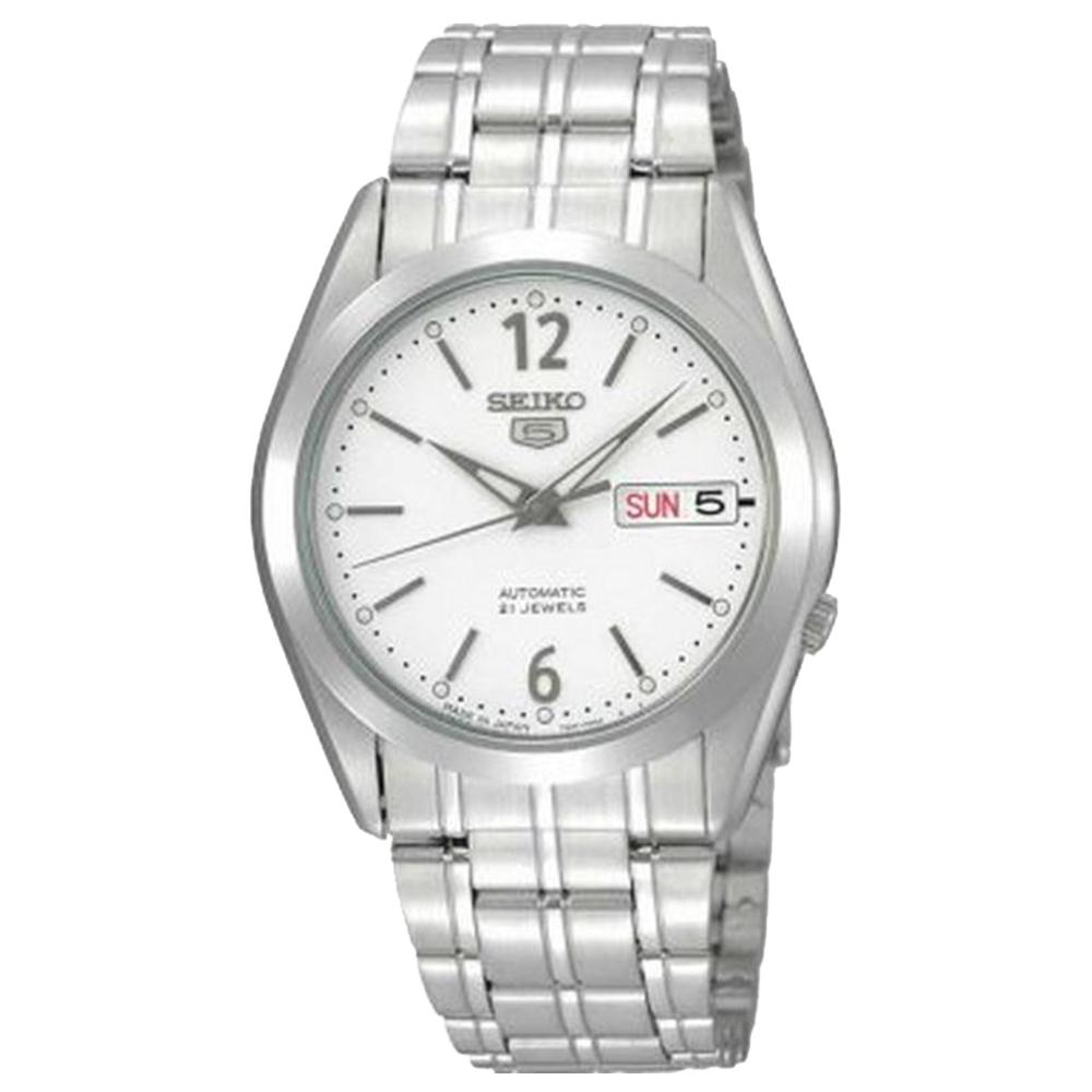 SEIKO 經典5號自動上鍊機械腕錶(SNKE93J1)-白面x36.5mm