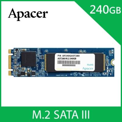 Apacer AST280 M.2 SATA3 240GB SSD固態硬碟