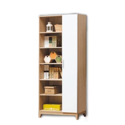 柏蒂家居-維也納<b>2</b>.7尺單門開放式書櫃/展示置物櫃/收納櫃-80x32x195cm