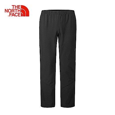 The North Face北面男款黑色吸濕排汗休閒長褲