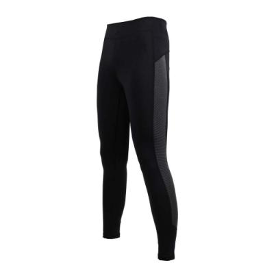 SOFO 女九分韻律褲-緊身長褲 慢跑 路跑 健身 有氧 瑜珈 黑灰