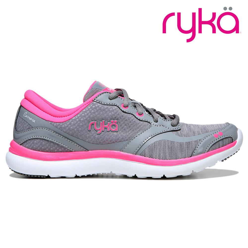 ryka CARRARA 女慢跑休閒鞋 灰粉紅 RKE3810M1020