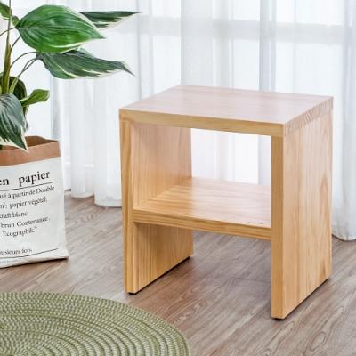 Boden-森林家具 1.4尺全實木椅凳/小矮凳/穿鞋椅/坐式鞋櫃-42x32x47cm