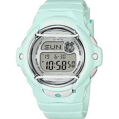 Baby-G 花朵系列時尚手錶-薄荷綠(BG-169R-3DR)