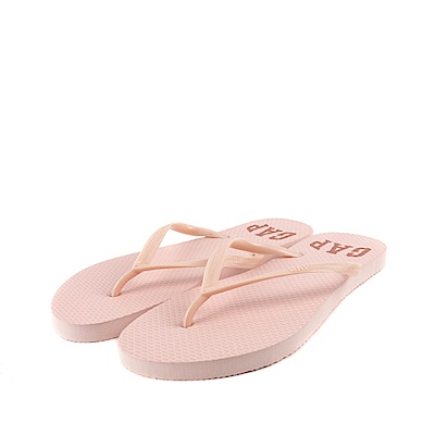 GAP 夏日必備經典LOGO印刷人字拖鞋(女)-粉色