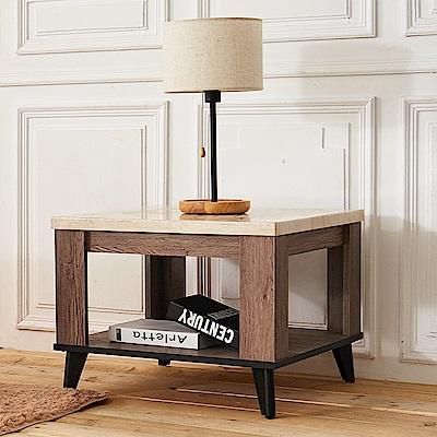 時尚屋 克里斯木心板2尺仿石面小茶几 寬60x深60x高46.8cm