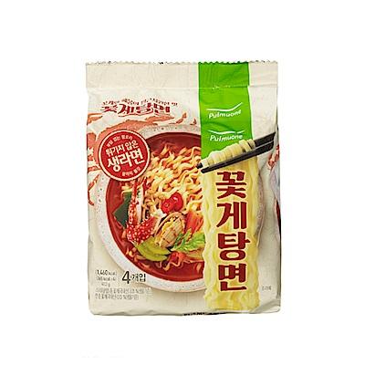 韓味不二pulmuone 花蟹炒碼麵(103gx4入)