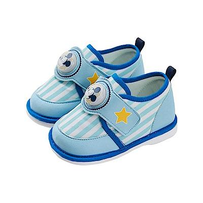 迪士尼童鞋 米奇 電燈嗶嗶寶寶鞋-水