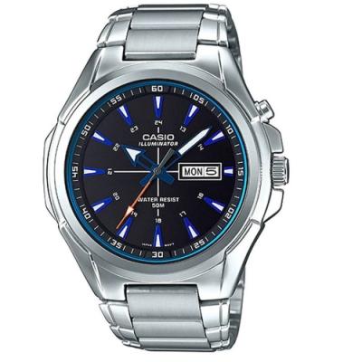 CASIO 星空羅盤設計概念指針不鏽鋼錶-(MTP-E200D-1A2)/46.8mm