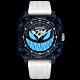ROMAGO碳纖維馭光者系列 螢光鬼臉設計機械錶-夜光藍/46.5mm RM111-BU product thumbnail 2