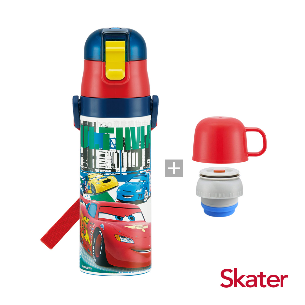 Skater直飲2way保溫水壺(附杯蓋組)-麥昆McQueen