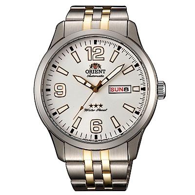 ORIENT 老牌經典 大數字時標石英腕錶(SAB0B005WB)-白面x42mm