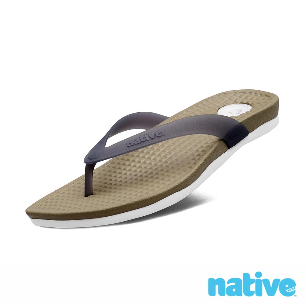 native PAOLO 男/女拖鞋-軍綠x霧灰