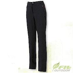 FIT 女 彈性吸排抗靜電保暖長褲_EW2801 經典黑 V